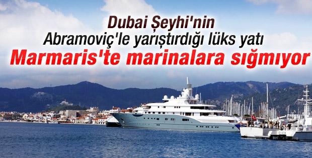 Dubai Şeyhi'nin yatı marinaya sığmadı