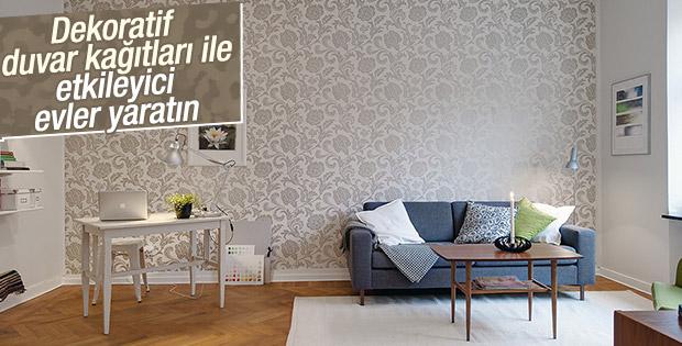 Dekoratif duvar kağıtları ile etkileyici evler yaratın