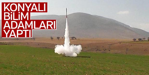 Selçuk Üniversitesi mühendislik öğrencileri roket yaptı