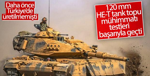 Yerli ve milli 120 mm HE-T tank topu mühimmatı geliyor