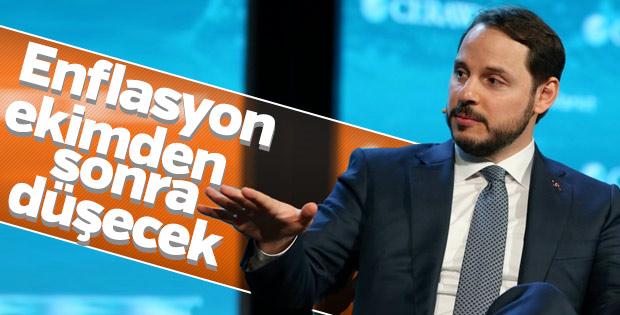 Albayrak: Enflasyon ekimden sonra düşecek
