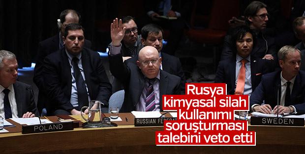 Rusya kimyasal silah tasarısını veto etti