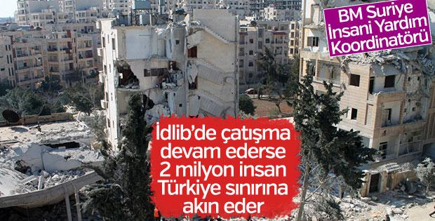 Moumtzis: İdlib'de çatışma devam ederse Türkiye sınırına akın olur