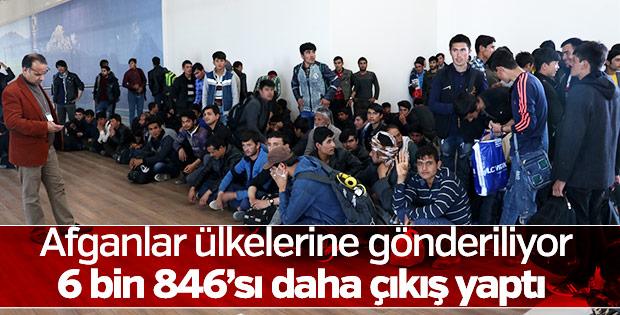 6 bin 846 Afgan ülkesine gönderildi