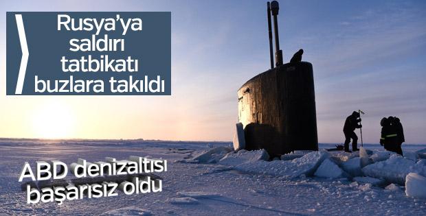 Rusya tatbikatı yapan ABD denizaltısı buzlara sıkıştı