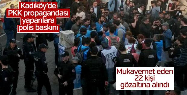 Kadıköy'deki PKK propagandasında 22 kişi gözaltına alındı