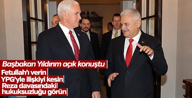Başbakan Yıldırım, Pence ile görüşmesini anlattı
