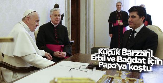 Neçirvan Barzani Vatikan'da Papa ile görüştü
