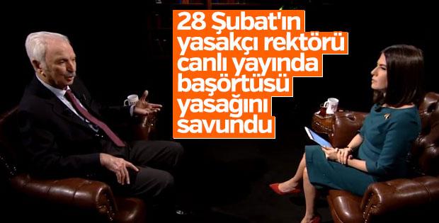 Yasakçı rektör Alemdaroğlu başörtüsü yasağını savundu
