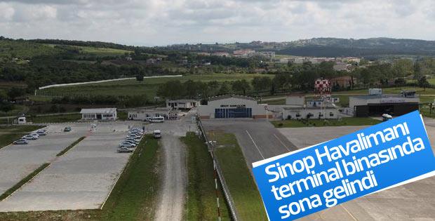 Sinop Havalimanı terminal binasında sona gelindi
