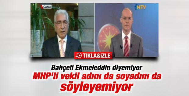 Faruk Bal İhsanoğlu'nun soyadını yanlış söyledi