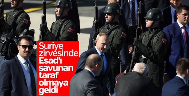 Putin, Suriye zirvesi için İstanbul'da