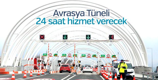 Avrasya Tüneli ay sonu itibarıyla 24 saat hizmet verecek