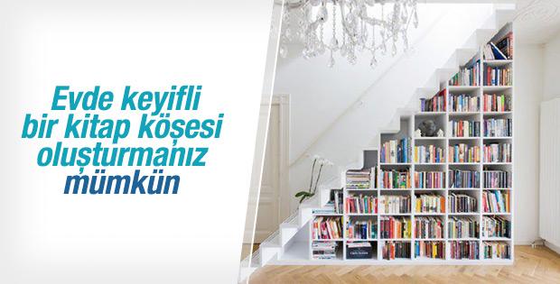 Evde keyifli bir kitap köşesi oluşturabilirsiniz