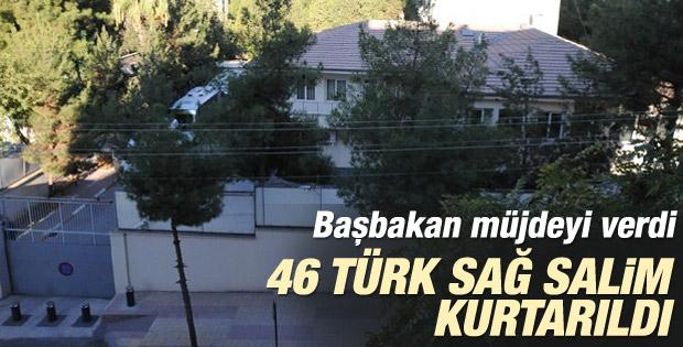 Davutoğlu: 46 rehine özgürlüğüne kavuştu