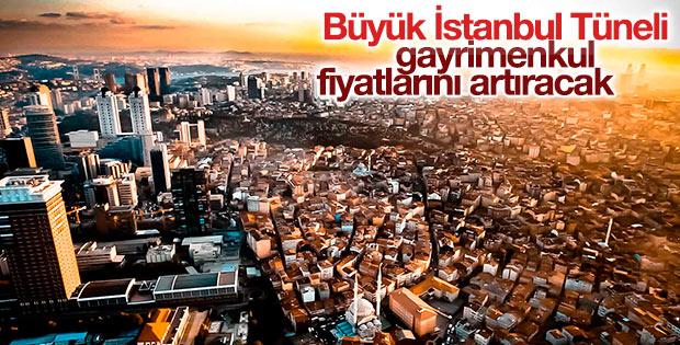 Büyük İstanbul Tüneli gayrimenkul fiyatlarını artıracak