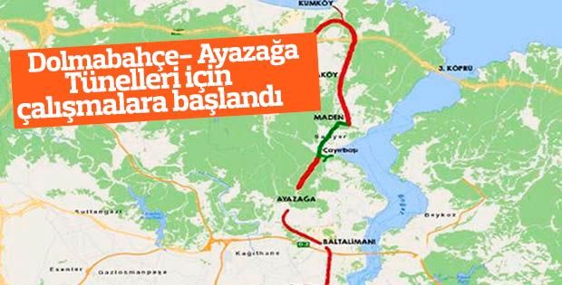 Dolmabahçe- Ayazağa Tünelleri için çalışmalara başlandı