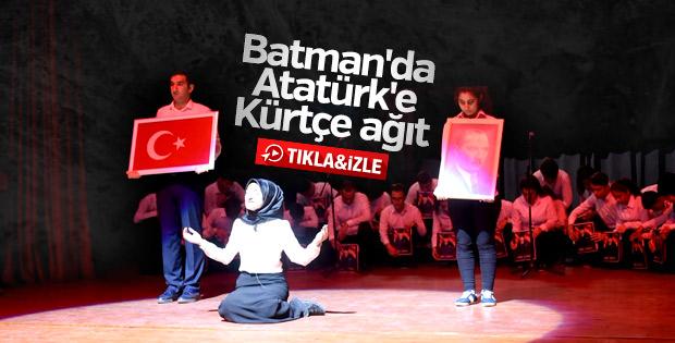 Batman'da Atatürk, Kürtçe ağıt yakılarak anıldı