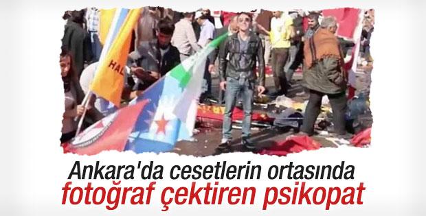 Ankara'daki katliamda gülerek poz veren adam