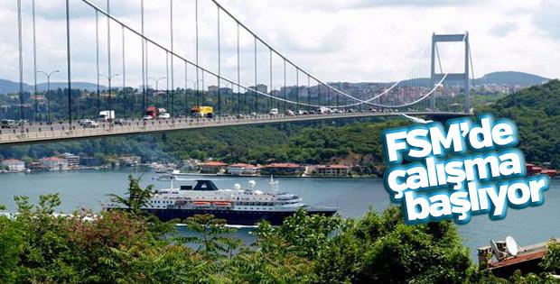 Fatih Sultan Mehmet Köprüsü'nde çalışma başlıyor