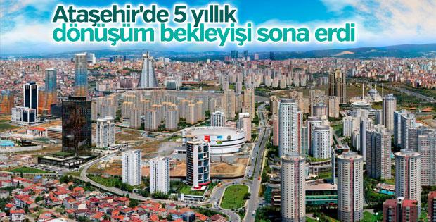Ataşehir'de kentsel dönüşüm çalışmaları başladı