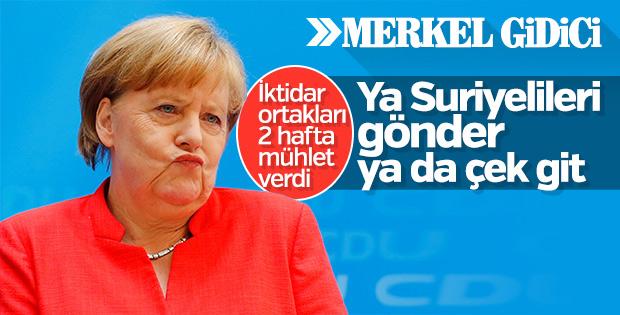 Merkel için geri sayım başladı: CSU rest çekti