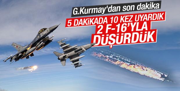 TSK'dan düşürülen Rus uçağı açıklaması