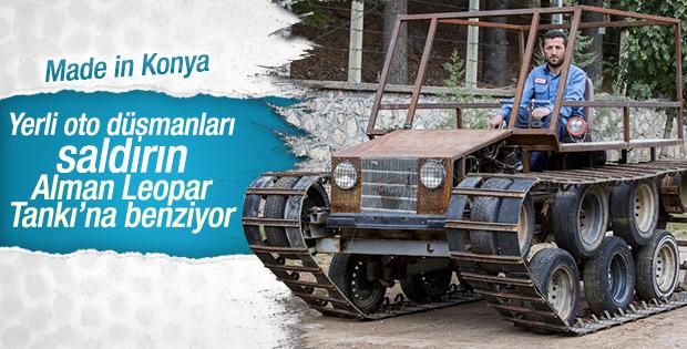 Konyalı işçi paletli araç yaptı