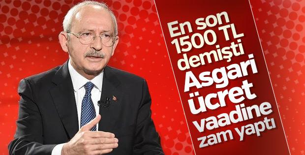 Kılıçdaroğlu: Asgari ücret 2 bin lira olmalı
