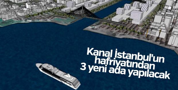 Kanal İstanbul'un hafriyatından 3 ada inşa edilecek