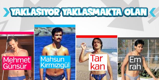 Mehmet Günsür 90'ların slip mayosuyla poz verdi