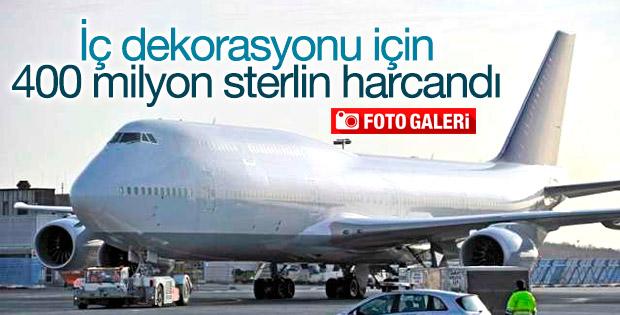 Uçağın iç dekorasyonu için 400 milyon sterlin harcandı