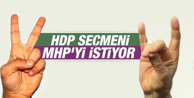 HDP'lilerin koalisyon tercihi MHP