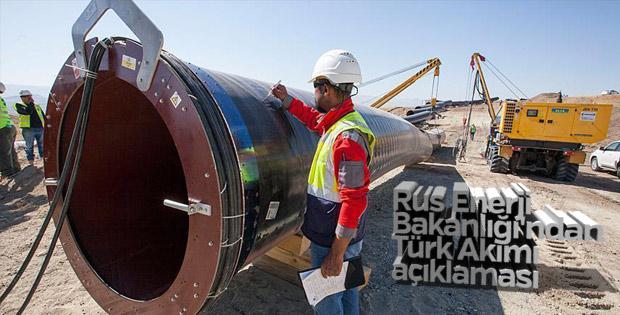 Rus Enerji Bakanlığı'ndan Türk Akımı açıklaması