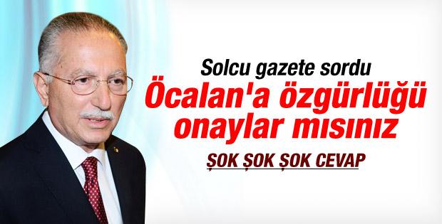 İhsanoğlu'na Öcalan'a özgürlüğü onaylar mısınız sorusu