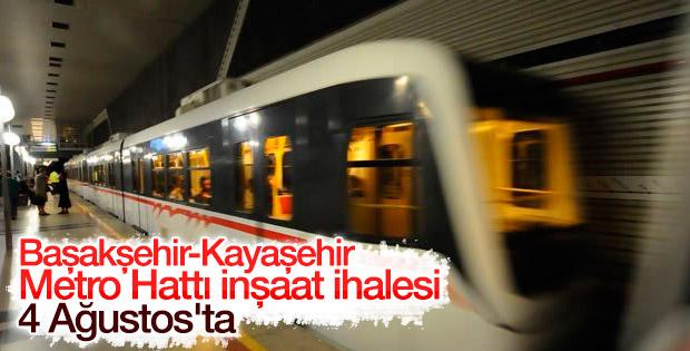 Başakşehir-Kayaşehir Metro Hattı inşaat ihalesi 4 Ağustos'ta