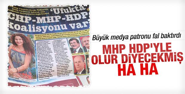 Posta'nın falında CHP-MHP-HDP çıktı