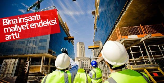 Bina inşaatı maliyet endeksi artış gösterdi