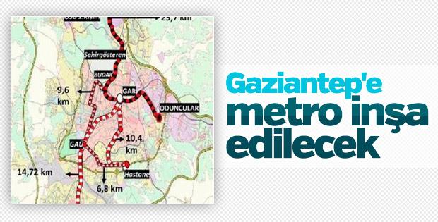 Gaziantep'e metro inşa edilecek
