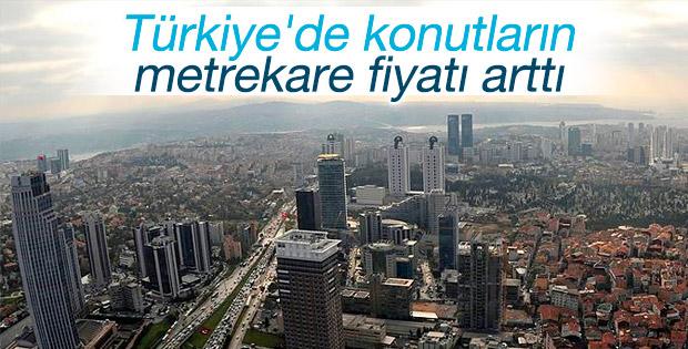 Türkiye'de konutların metrekare fiyatı arttı