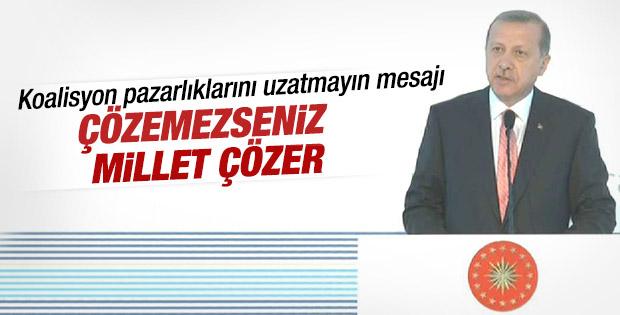 Cumhurbaşkanı Erdoğan: Koalisyon kaçınılmaz