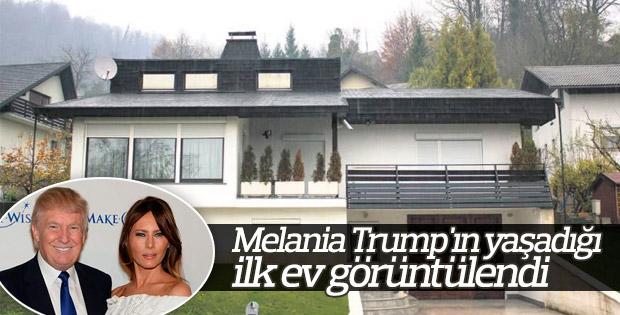 Melania Trump'ın yaşadığı ilk ev görüntülendi