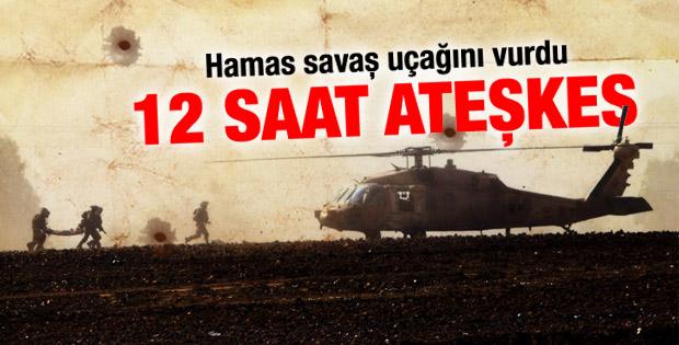 Hamas: İsrail savaş uçağını vurduk