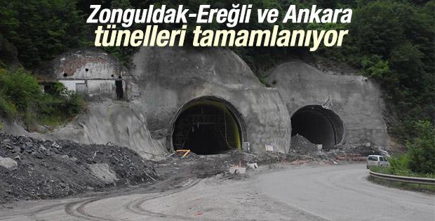 Zonguldak-Ereğli ve Ankara tünelleri tamamlanıyor
