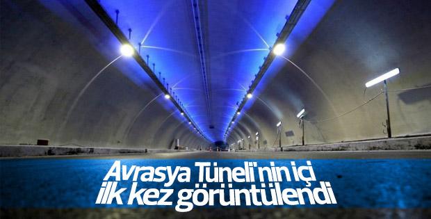 Avrasya Tüneli'nin içi ilk kez görüntülendi