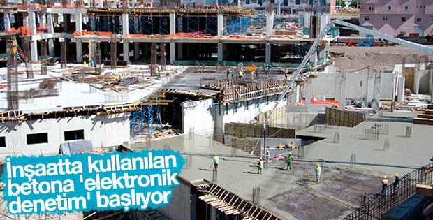İnşaatta kullanılan betona elektronik denetim yapılacak