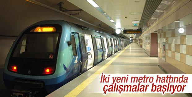 İstanbul'da iki yeni metro hattında çalışmalar hızlanıyor