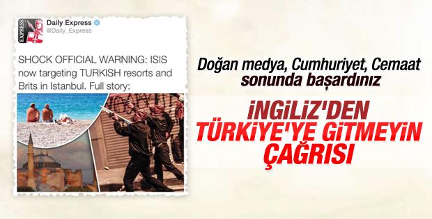 İngiliz gazetesi Türkiye'ye gitmeyin uyarısı yaptı