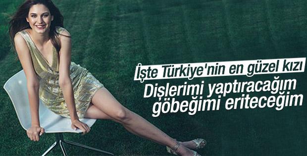 Türkiye güzeli Ecem Çırpan göbeğinden şikayetçi