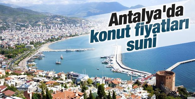Antalya'da konut fiyatları suni